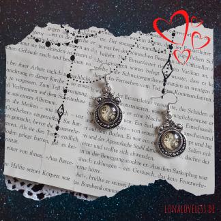 Gothic Ohrringe mit Yin Yang Vintage Anhängern